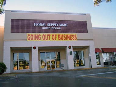 Floral Supply Closing